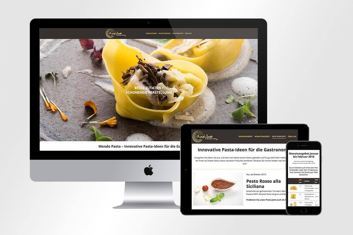 Responsive Webdesign von Mondo Pasta | mattheis. Werbeagentur