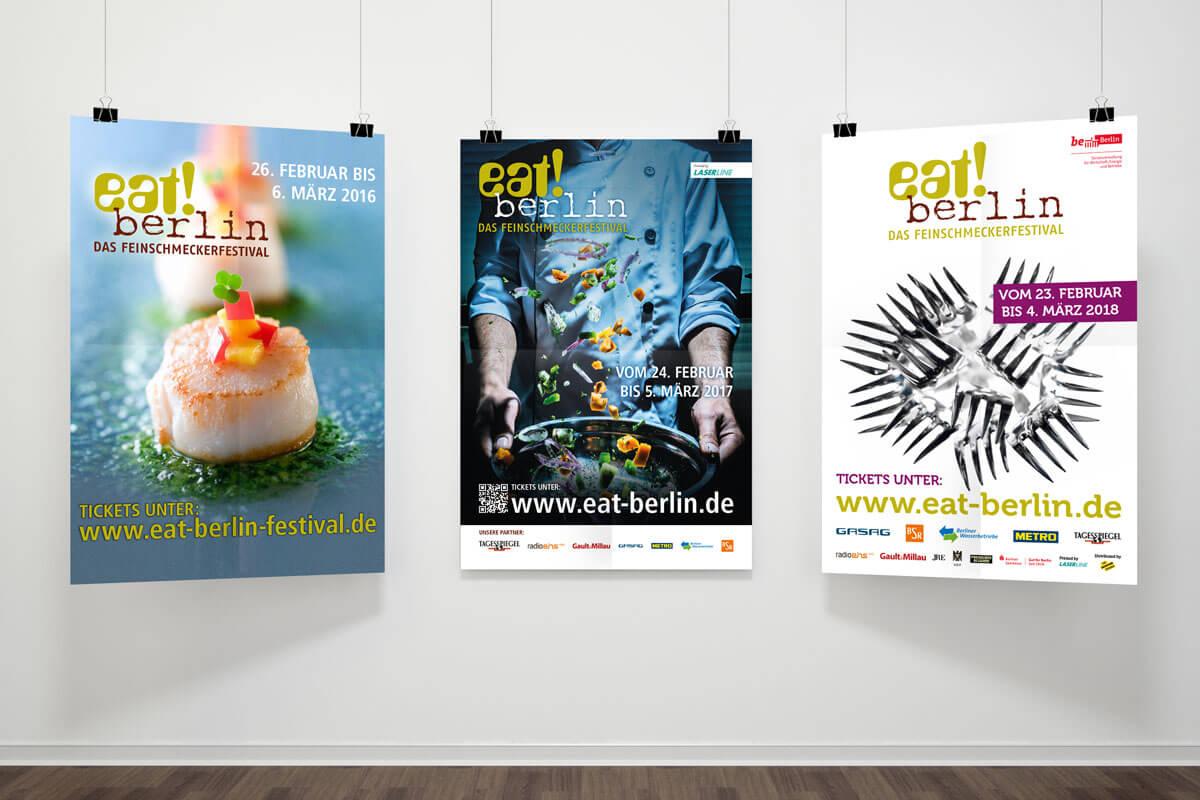 Plakate des Feinschmeckerfestivals eat! berlin | mattheis. Werbeagentur