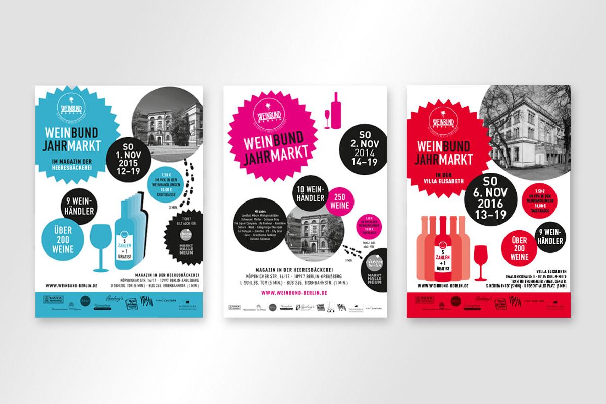 Plakate Weinbund Jahrmarkt 2014 und 2015