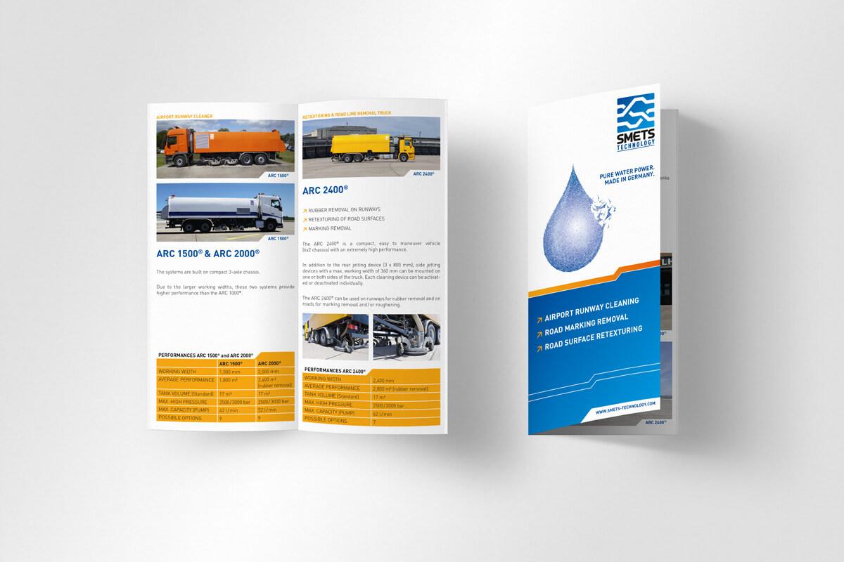 Din lang Broschüre SMETS Technology | mattheis. Werbeagentur