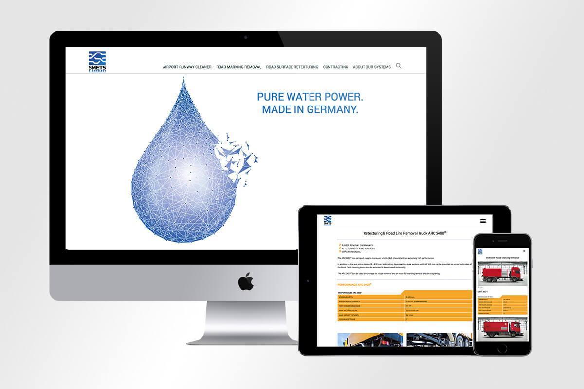 Responsive Webdesign SMETS Technology | mattheis. Werbeagentur GmbH