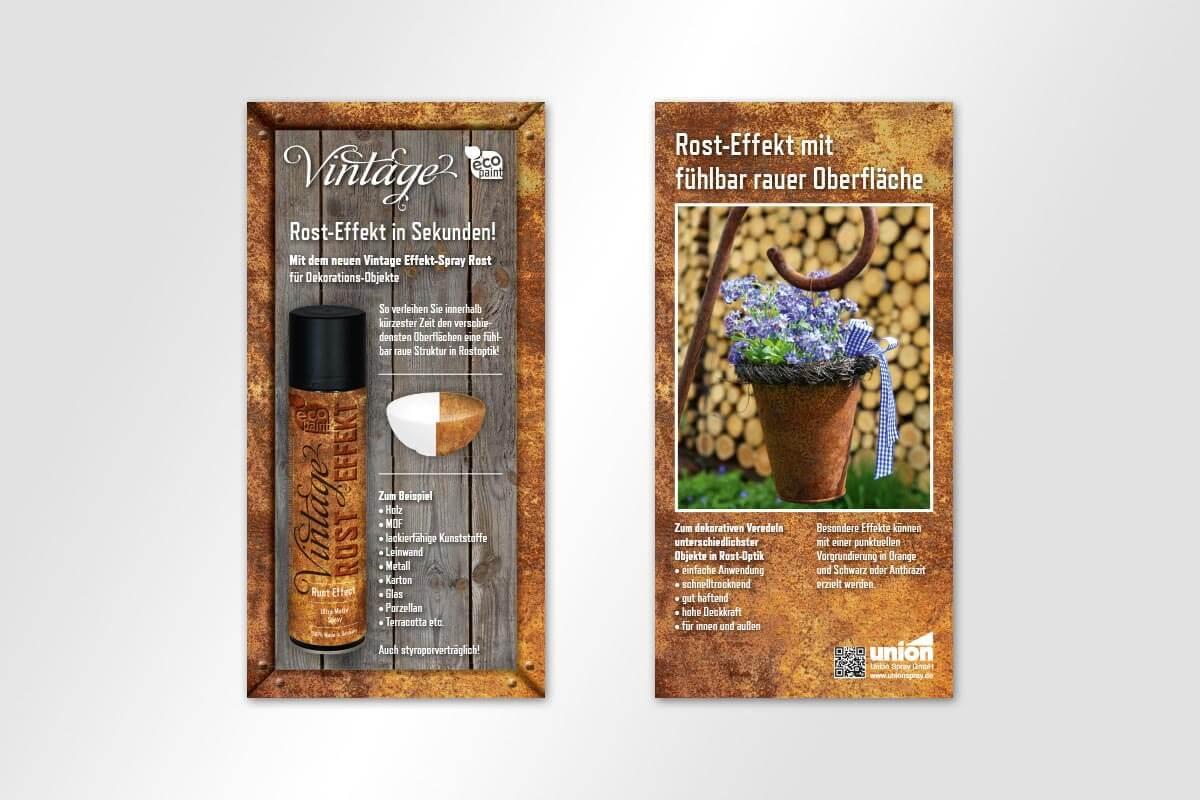 Union Spray – Flyer | mattheis. Werbeagentur