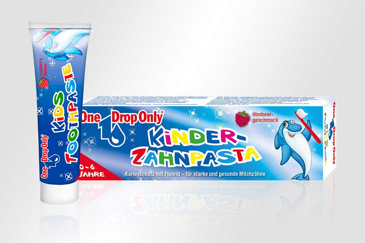 Verpackungsdesign One Drop Only Kinderzahnpasta