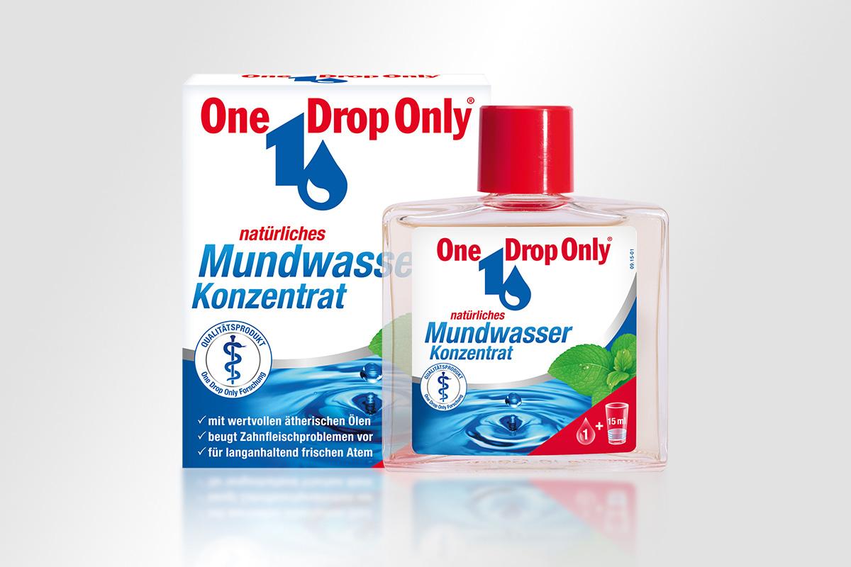 One Drop Only Mundwasser Konzentrat Schachte Flasche