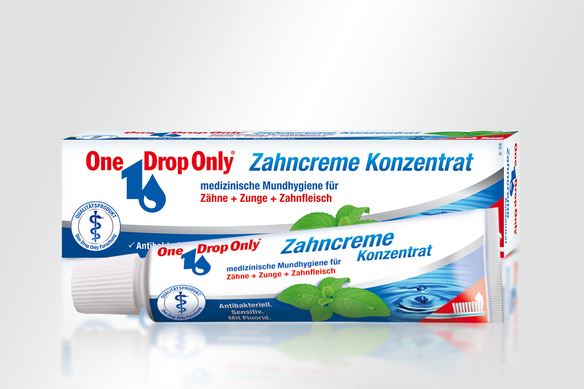 One Drop Only Antibakterielles Zahncreme Konzentrat Tube Schachtel