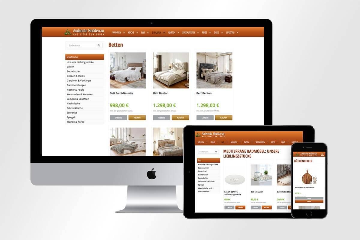 Webdesign Shop Ambiente Mediterran