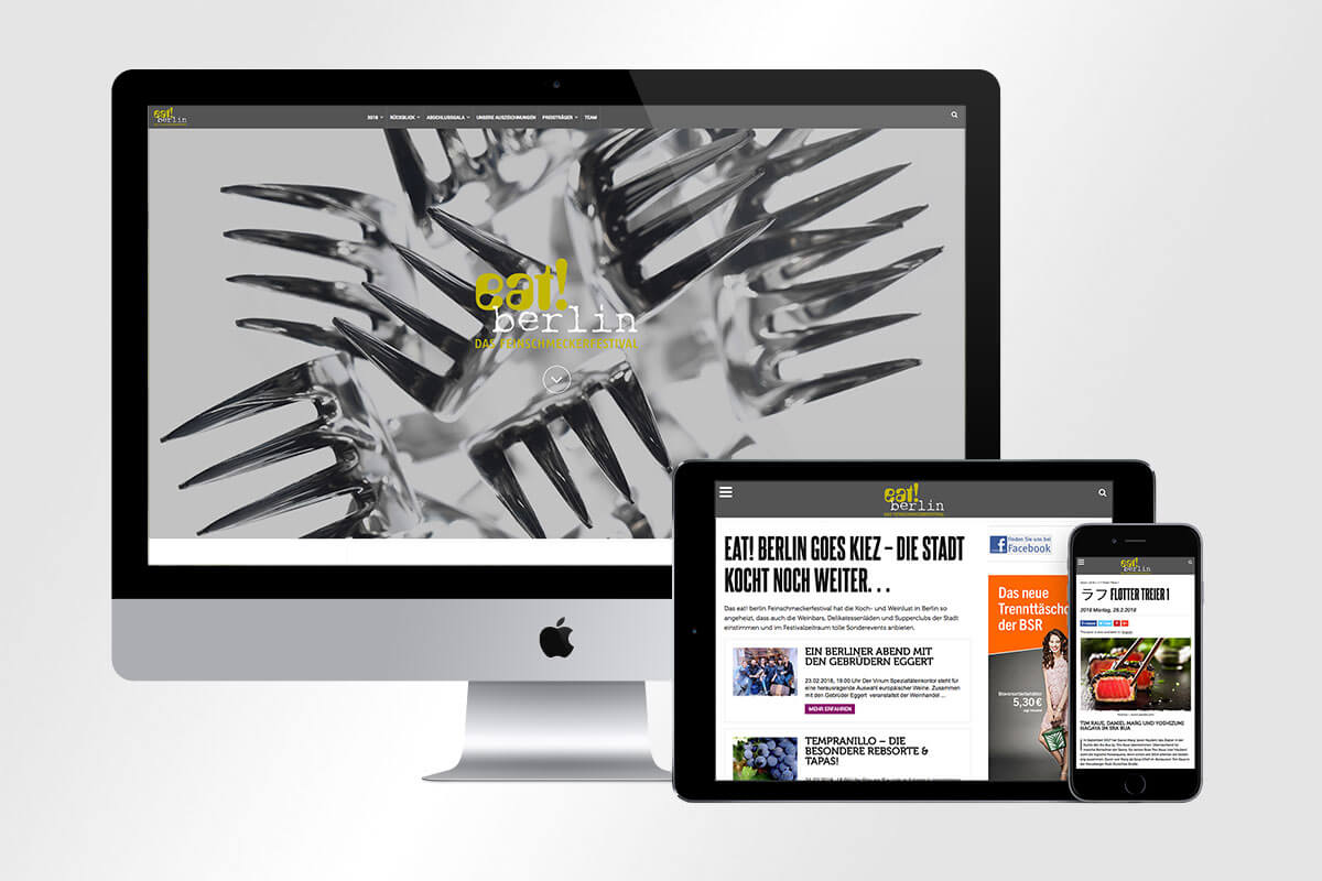 Responsive Webdesign eat! berlin | mattheis. Werbeagentur