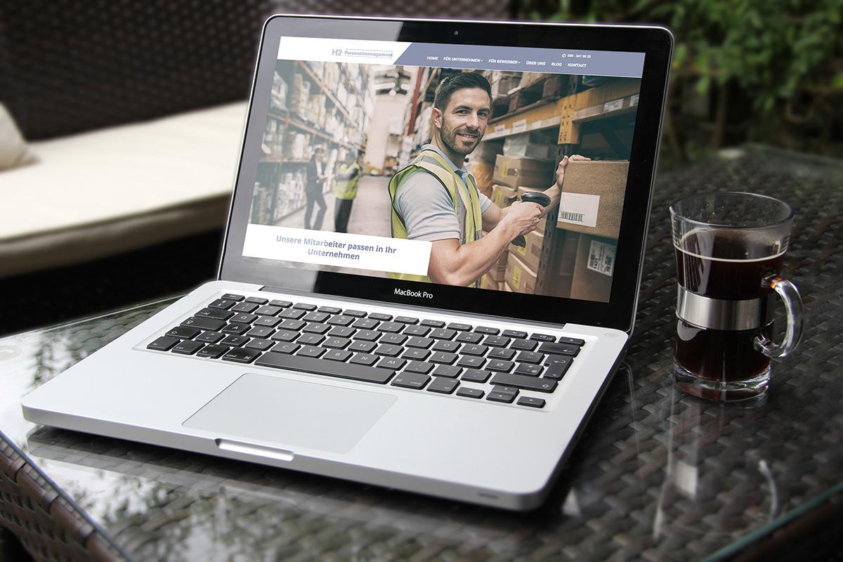 Responsive Webdesign mit Jobseek für H2 Personalmanagement Stellenangebote