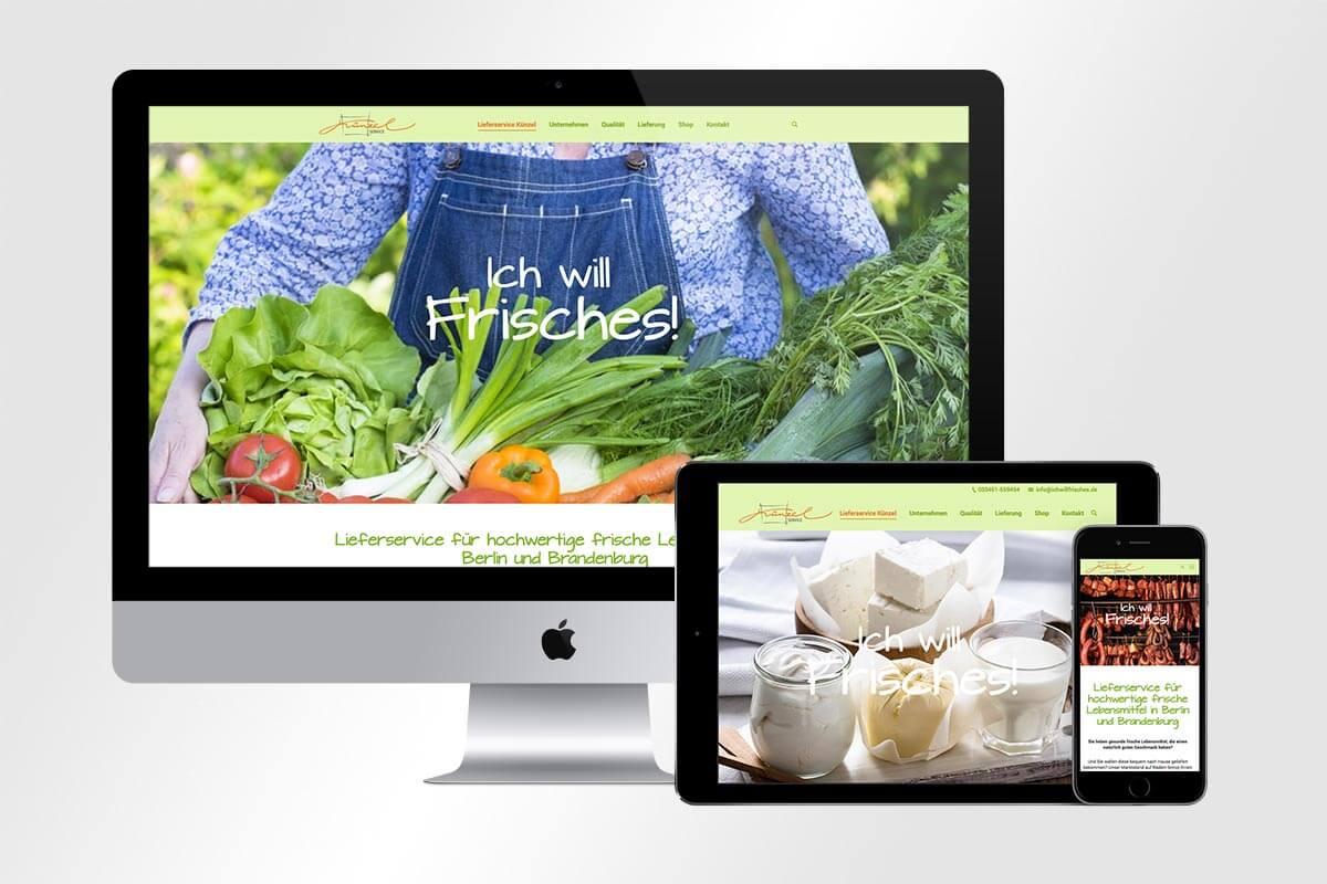 Webdesign ichwillfrisches.de – Künzel Service | Mattheis Werbeagentur