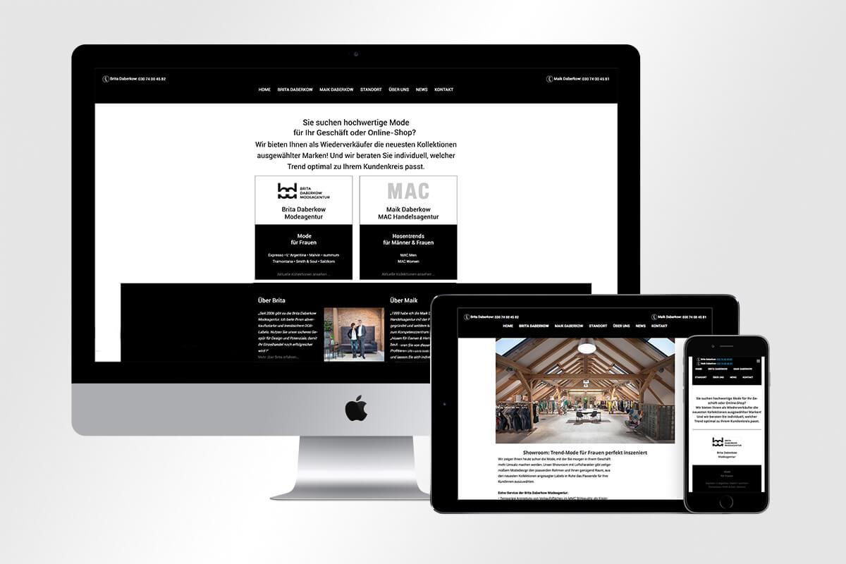 Daberkow Modeagentur Responsive Webdesign