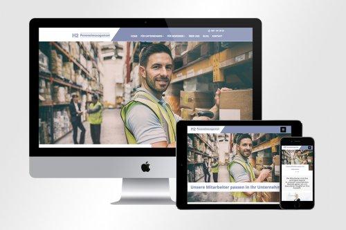 Responsive Webdesign mit Jobseek für H2 Personalmanagement