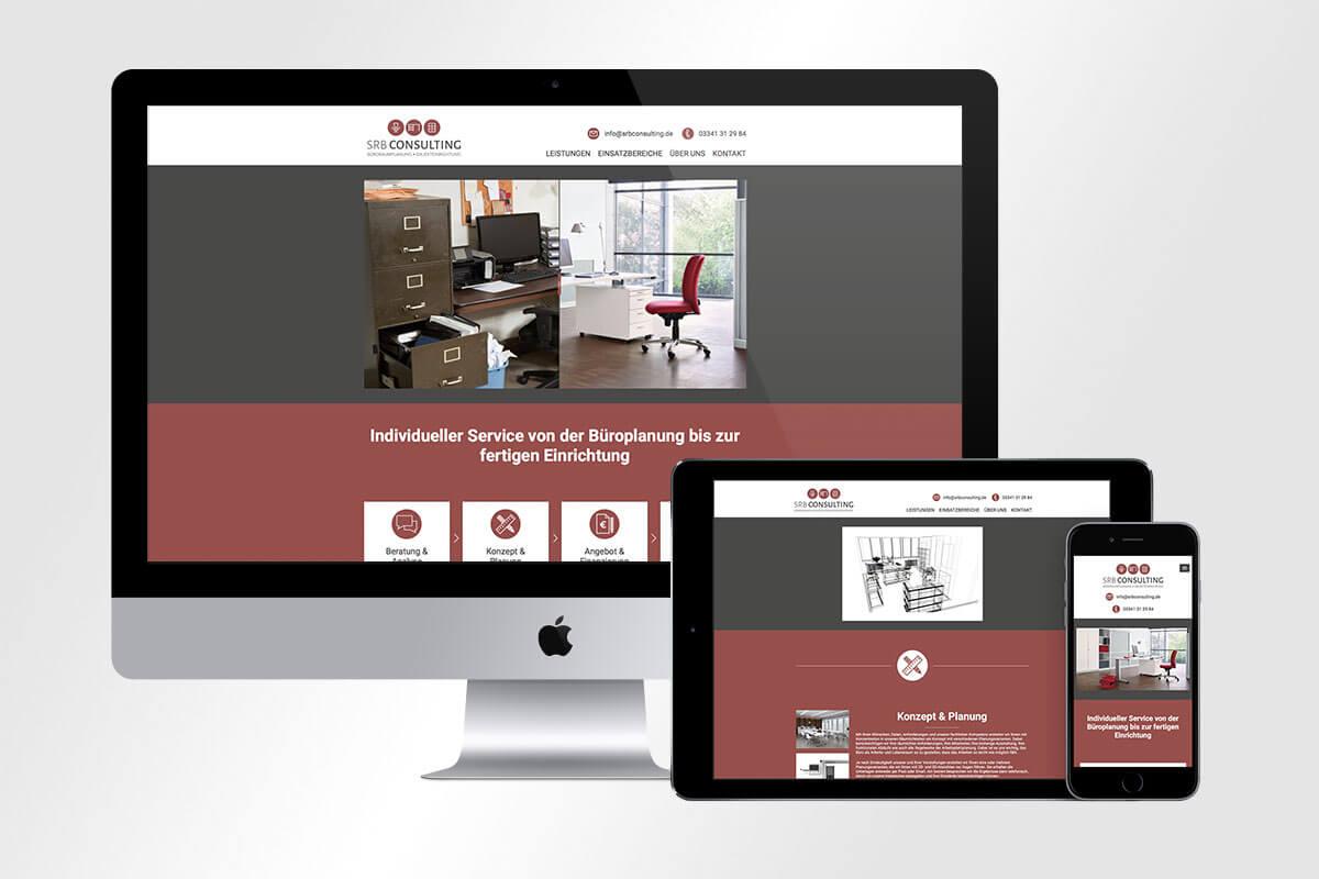 Responsive Webdesign neue Website SRB Consulting mattheis werbeagentur