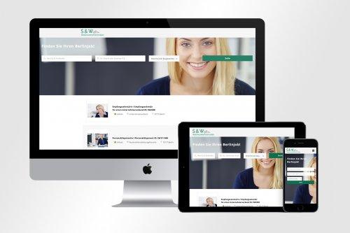 Responsive Webdesign mit Jobseek Stellenangebote für S & W Personaldienstleistungen