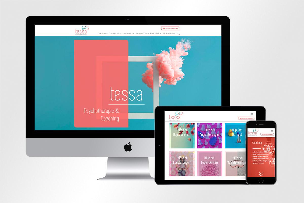Responsive Webdesign Tessa – Psychotherapie & Coaching