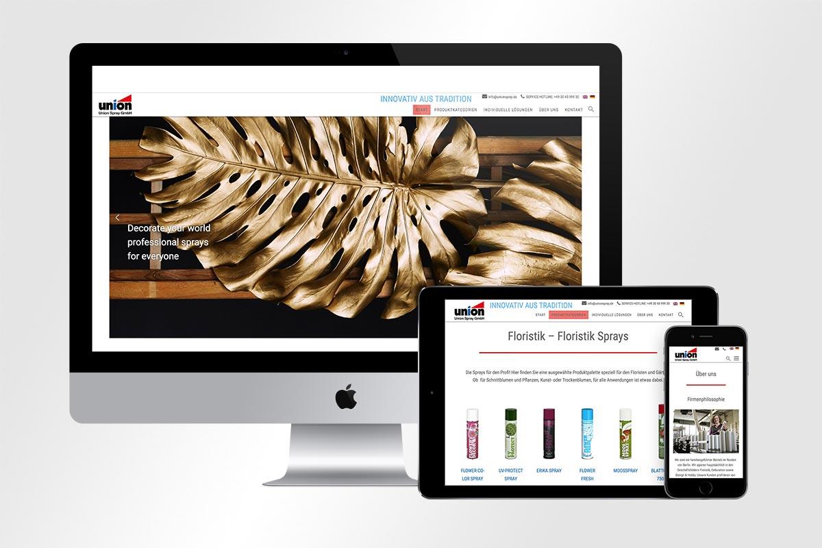 Webdesign Union Spray