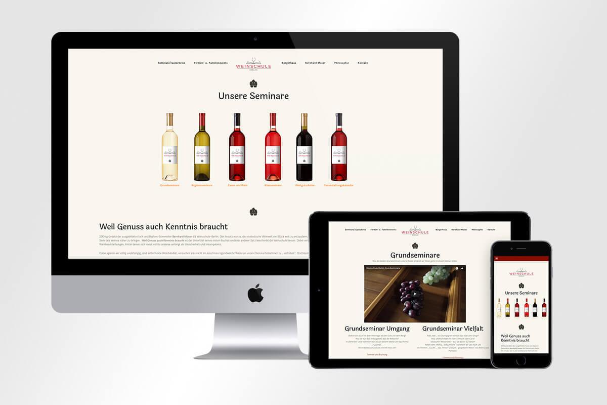 Responsive Webdesign neue Website Weinschule Berlin mattheis werbeagentur