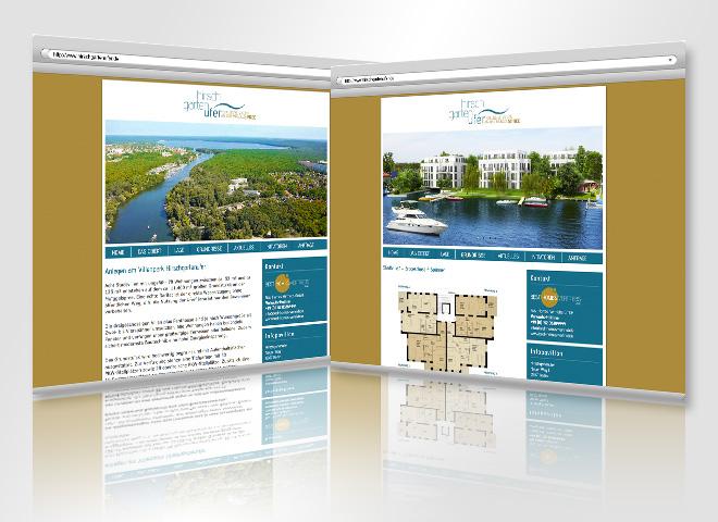 Website www.hirschgartenufer.de Hirschgartenufer Vilenkolonie, gestaltet von der mattheis. werbeagentur gmbh